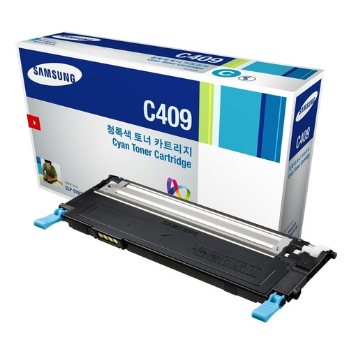 SAMSUNG CLT-C409S TONER CART Cyan 1000 Page Yield