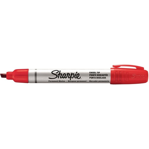 SHARPIE ALUMINIUM PERMANENT MARKER  CHISEL POINT RED