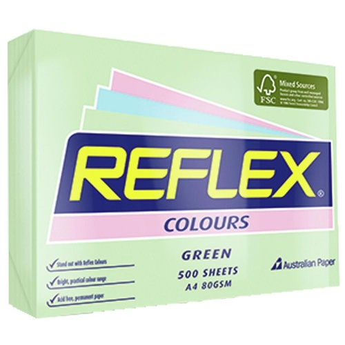 REFLEX TINTS COPY PAPER A4 80gsm Green