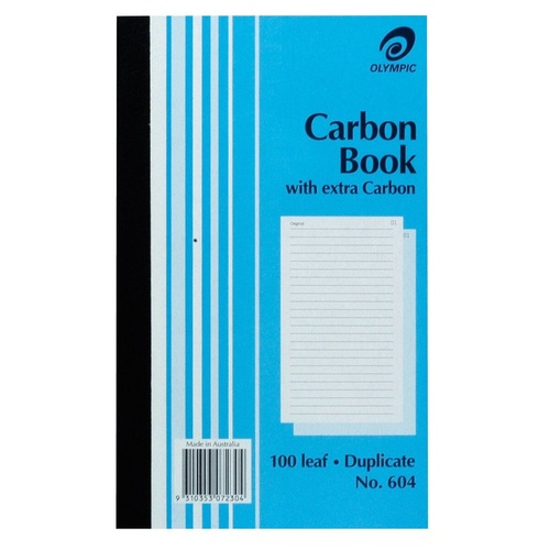 OLYMPIC RULED CARBON BOOKS 604 Dup 100Leaf 200x125mm