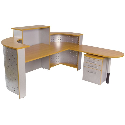 SYLEX ESCAPE SYSTEM FURNITURE RECEPTION COUNTER 1800mm Beech
