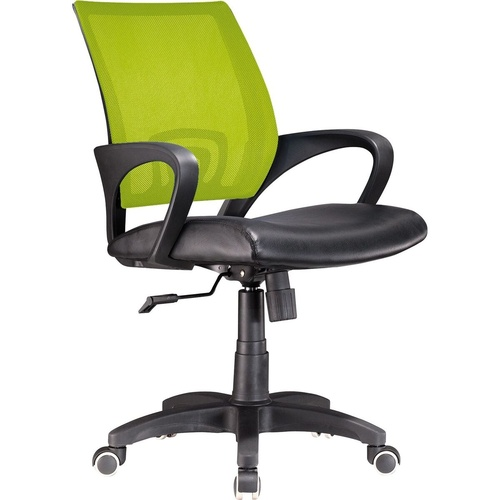 DEUCE MESH BACK CHAIR With Arms Lime