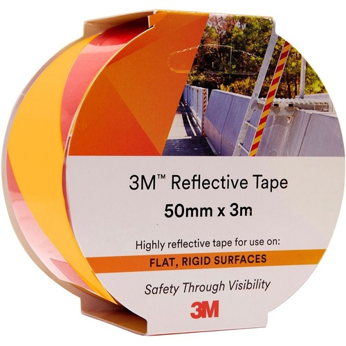 3M 7930 REFLECTIVE TAPE 50mm x 3m Red/ Yellow