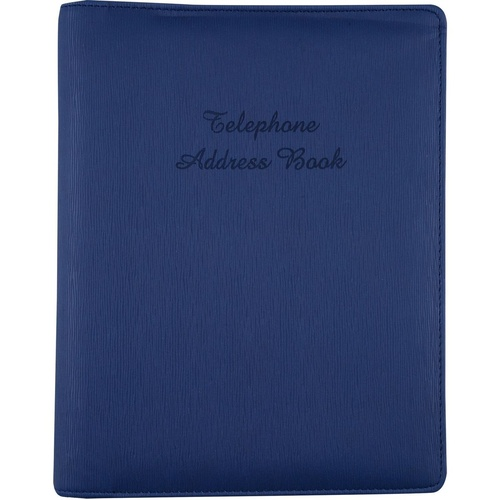 ADDRESS BINDER Navy Blue 6 Ring