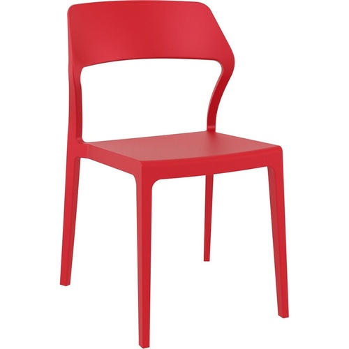 Siesta Stackable Chair Red without Arms