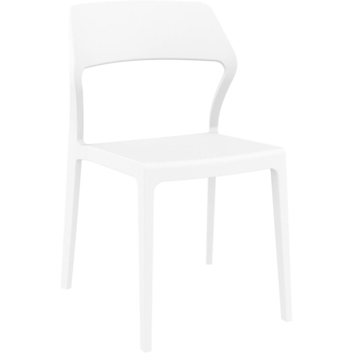 Siesta Stackable Chair White without Arms