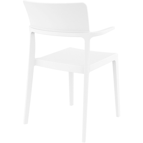 Siesta Stackable Chair White with Arms