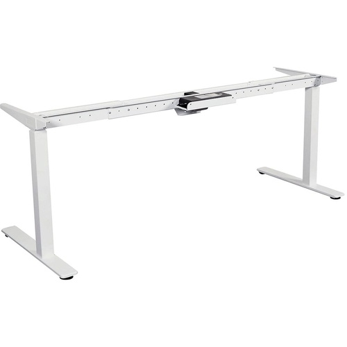 SUMMIT 2 SIT TO STAND Straight Desk Frame Only.White