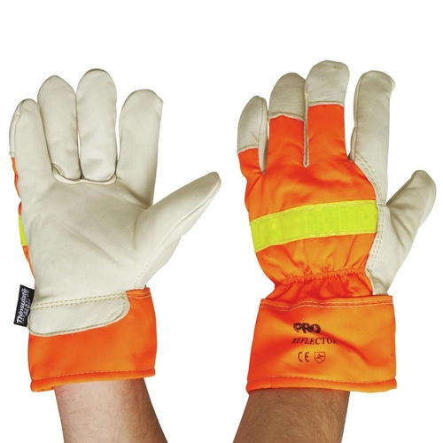 RIGGAMATE REFLECTOR GLOVE Lined HiVis, 3M Thinsulate